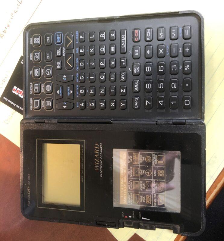 Sharp Wizard OZ-7000 Electronic Organizer