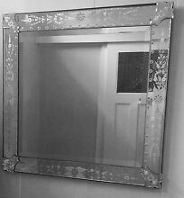 Spectacular Pair of Square Venetian Mirrors Lindfield Ku-ring-gai Area Preview