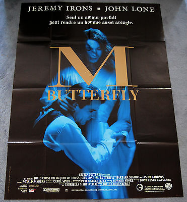M BUTTERFLY - JEREMY IRONS - JOHN LONE - ORIGINAL 1994 FRENCH MOVIE POSTER