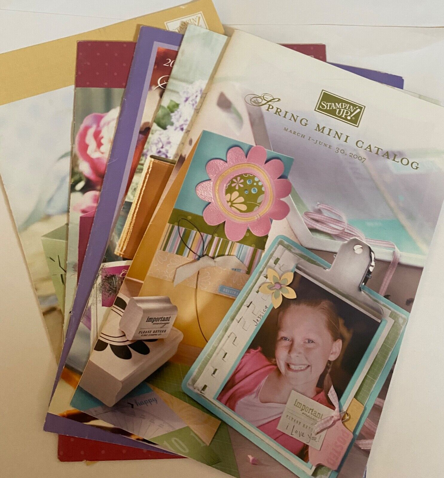 Stampin Up Retired Mini Catalogs Group Of Five Very Good Condition - $0.99