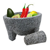 TLP Molcajete Mexican Mortar and Pestle 8.5 in - Handmade (Pack of 1)