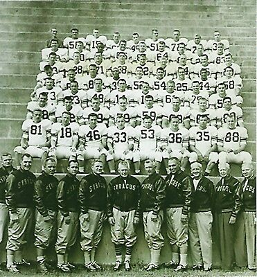 Syracuse Orange Photo - 1959 SYRACUSE FOOTBALL TEAM 8X10 PHOTO ORANGE NCAA