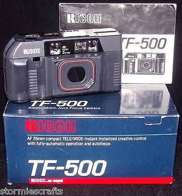 Ricoh Camera TF-500 for PARTS ONLY with Original Box & Owners Manual Warranty