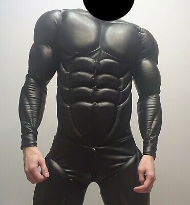 Fetish Muscle costume, batman, muscle suit, catsuit, leather, latex suit