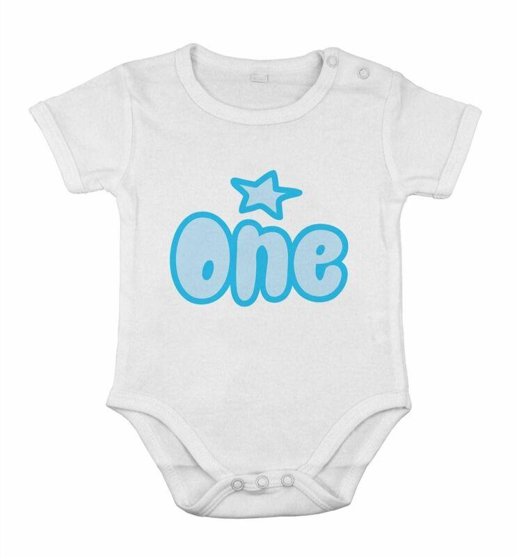 My 1st First Birthday Kids Preset Grow Body boy vest one piece