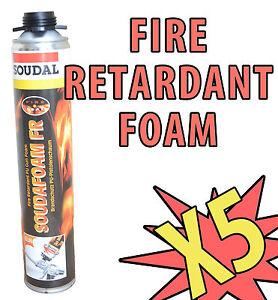 5X-SOUDAL-FIRE-RATED-RETARDANT-RESISTANT-GUN-GRADE-EXPANDING-FOAM-PU-FOAM-750ML