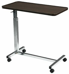 Deluxe Tilt Over Bed Hospital Computer Table Adjustable