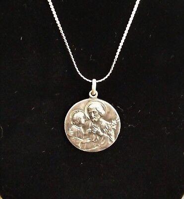 Vintage Catholic Medal, Saint Joseph