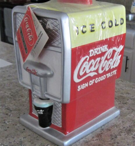 Coca Cola Brand Cookie Jar Vending Machine Canister / Brand New
