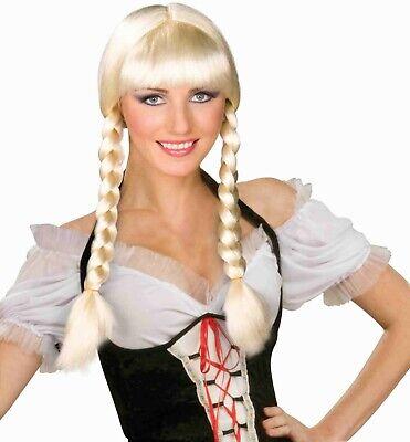 Forum Inga Oktoberfest Blond Schwedisch Geflochten Haar Halloween Kostüm