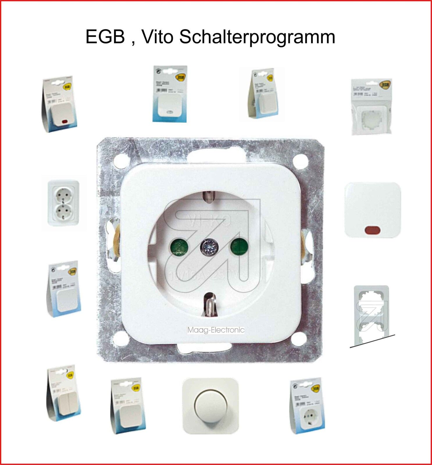 EGB elegant Standard Reinweiß Kombisteckdose for sale online