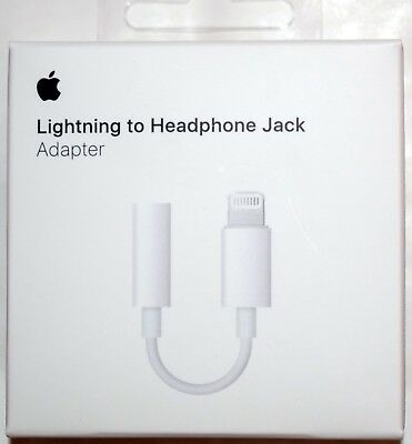 Genuine Apple Lightning to 3.5mm Headphone Jack Adapter for iPhone 7 8 11 X Pro