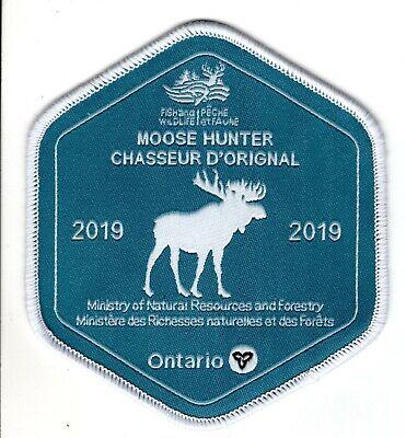 ONTARIO MNR 1984 DEER HUNTING PATCH hunter badge crest bear elk moose fish dnr