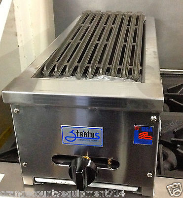 New 12 Radiant Char Broiler Grill Gas Or Lp Stratus Srb-12 1051 Commercial Nsf