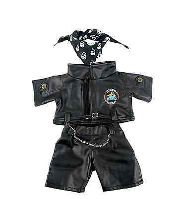 "Biker Bear outfit/clothes to fit 15""/16"" build a bear factory"