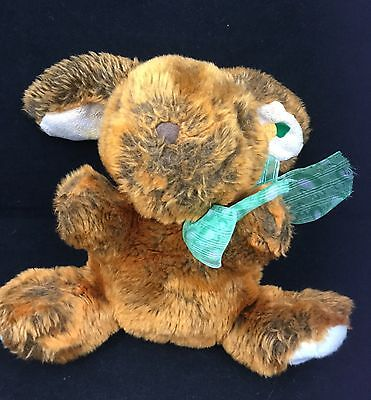 Carrot Cake Colored Bunny Rabbit Green Bow Easter Walmart Plush 12  Toy Lovey