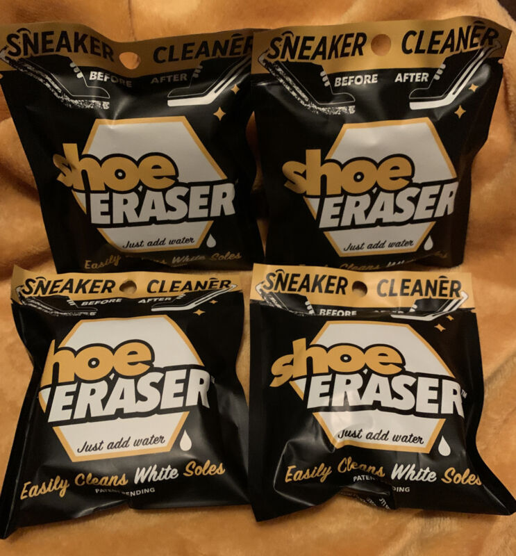 SNEAKER CLEANER Shoe Eraser Easily Cleans White Soles just add water LOT of 4