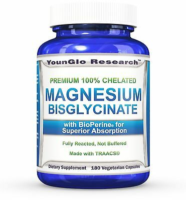 Chelated Magnesium Glycinate plus BioPerine - 180 Vegetarian Capsules
