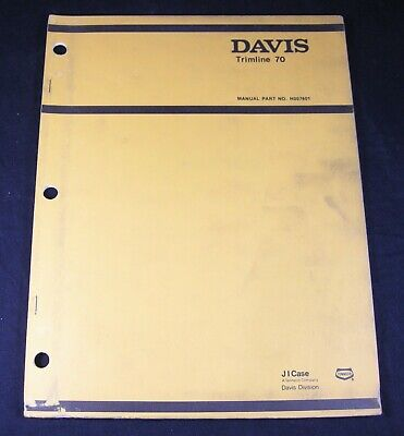 Case Davis Trimline 70 Trencher Digger Plow Parts Manual Book Catalog Tl70 Oem