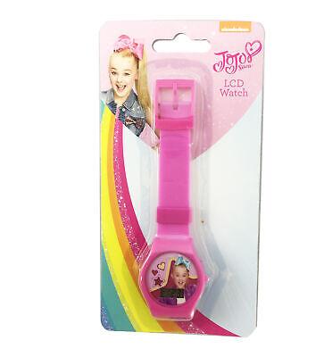 Pink Girls Watch - JoJo Siwa Girls Watch Pink Band Nickelodeon Lcd Watch