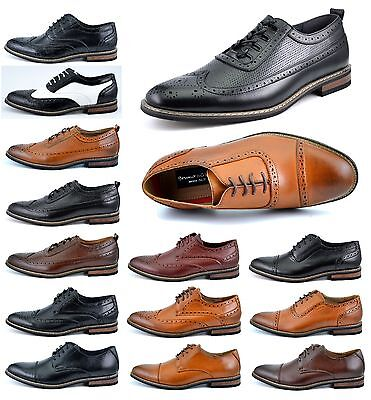 Bruno Marc PRINCE MENS LACE UP WINGTIP OXFORDS CASUAL LEATHER LINED DRESS SHOES