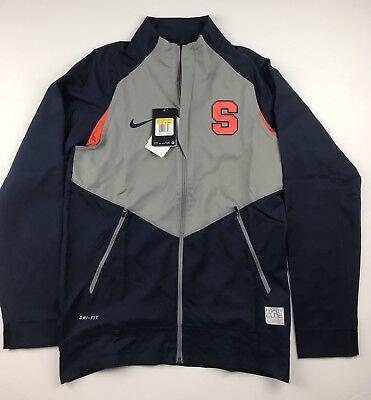 90 Nike Mens Small Syracuse Orangemen Hyperlite Dri Fit Zip Up Game Jacket Nwt