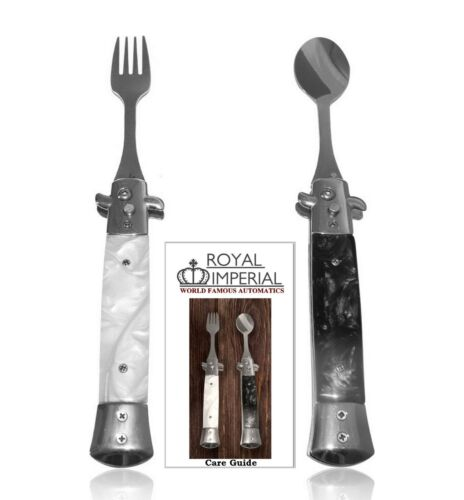 Royal Imperial Switchblade Fork & Spoon Camping Outdoor Stainless Utensil Set