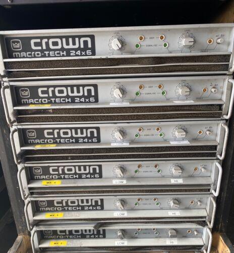 CROWN MACRO-TECH 24x6 PA POWER AMPLIFIER MA W/A.M.C.XOVER CARD