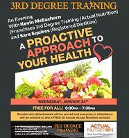 FREE Nutrition Seminar - 3rd Degree Training Saint John