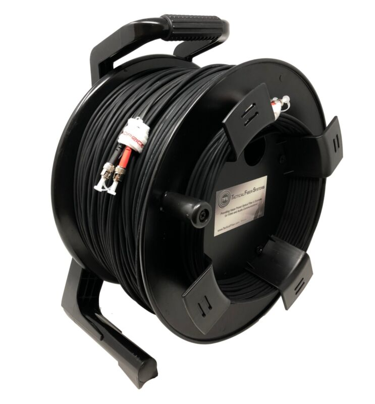 ST/ST Connectors 1000Ft TFSDuraTAC Tactical Fiber Cable Reel