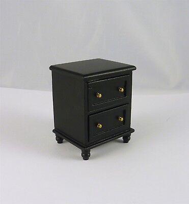 Dollhouse Miniature Ashley Ebony Nightstand, (222 Miniature)
