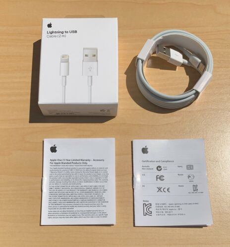 Original OEM Apple iPhone 11 X 8 7 6 5 Lightning USB Cable Charger 2m - 6FT