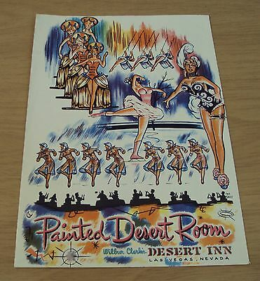 "1950's COLOR Show Girls Program~""PAINTED DESERT ROOM"" Las Vegas BETTY HUTTON~"