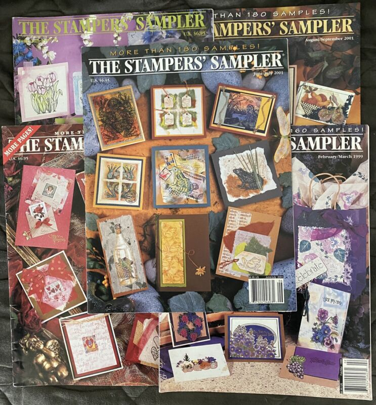 Lot of 5 THE STAMPERS' SAMPLERS Magazines 1997, 1999, 2001