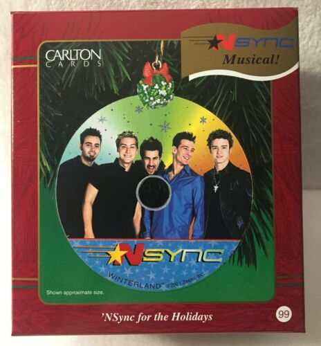 2001 Carlton Cards Nysnc For The Holidays Musical Christmas Ornament NEW! 99