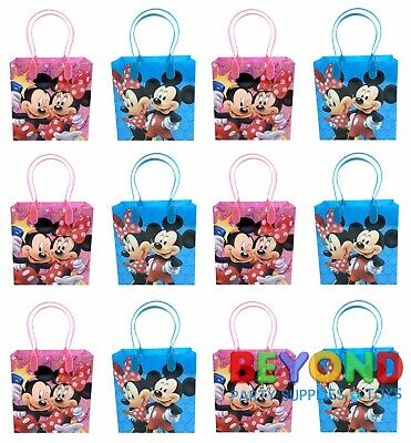 Mickey and Minnie Mouse Birthday Party Favor Goody Gift Candy Loot Bags  Mickey Mouse Goody Bags