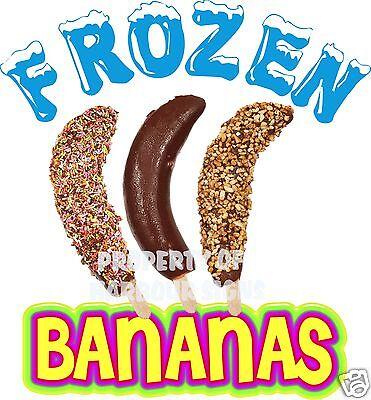 Frozen Bananas Decal 14 Cart Concession Food Truck Restaurant Vinyl Sticker
