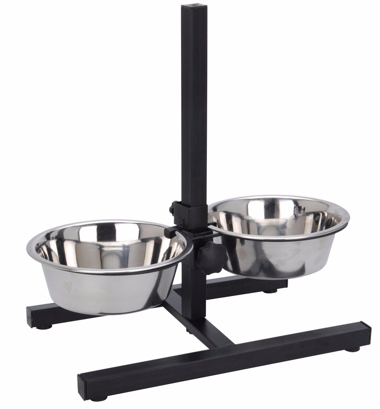 Futterbar Metall Napfständer mit Napf Hunde Futternapf Fressnapf Napfständer