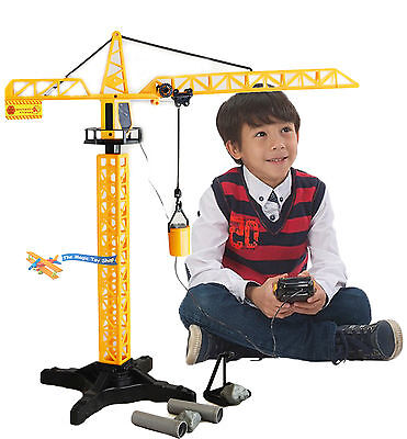 Kids Boys Radio Remote Controlled RC Tower Crane Construction Site Vehicle Toy