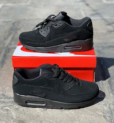Nike Air Max 90 Triple Black Suede UK 6 7 8 9 10 11 New