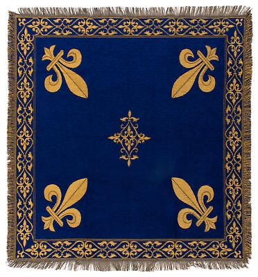 Fleur de Lis tapestry throw - French Decor Throw - 56x56 Belgian Tapestry Throw