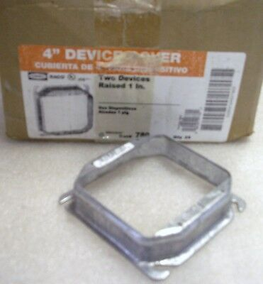 25 Hubbell Rayco 780 4 Device Cover For 2 Devices Raised 1 Plaster Ring  Hh