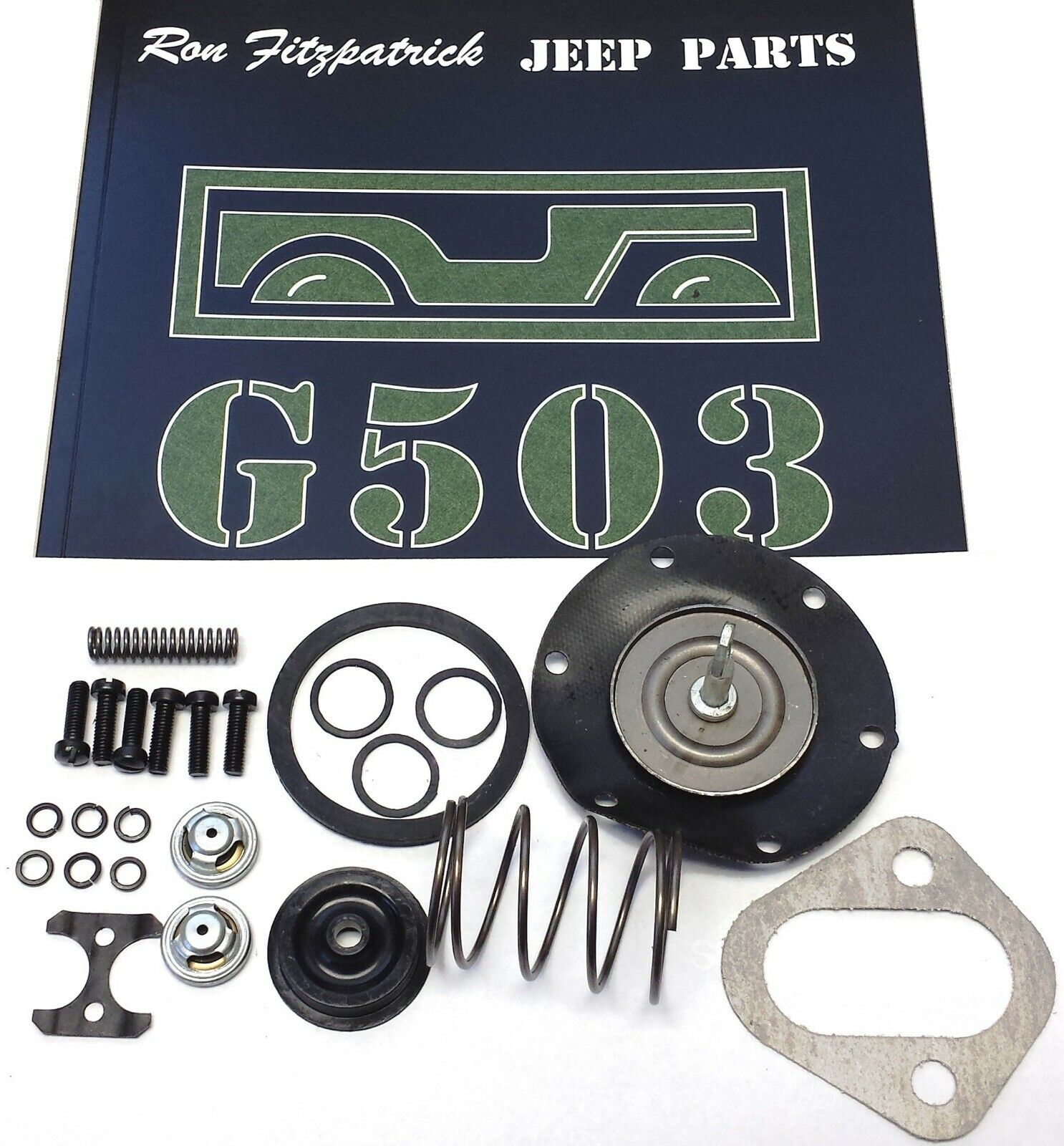 Wwii Willys Fuel Pump Overhaul Kit (a8323-k) Willys Mb