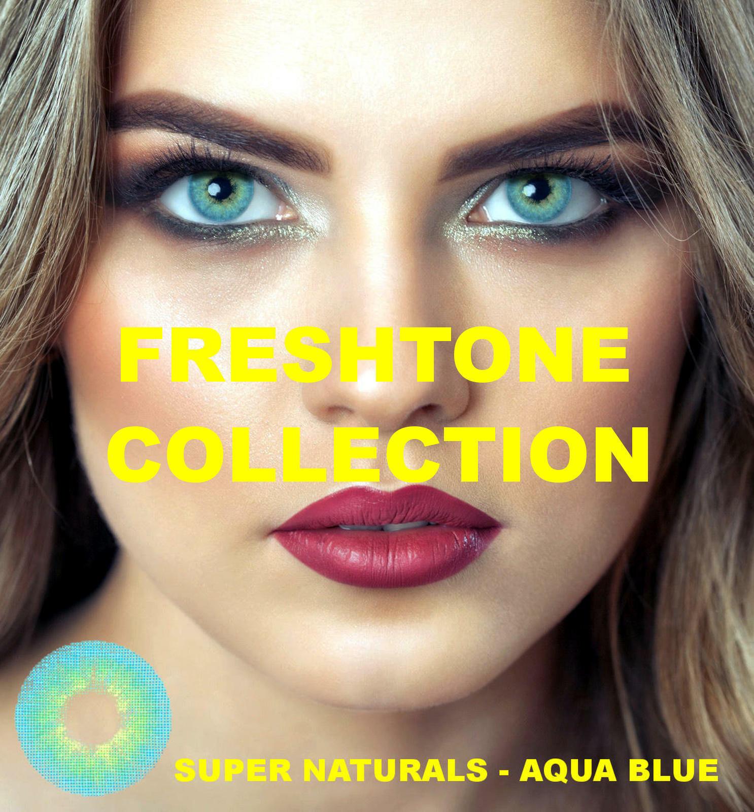 Farbige Kontaktlinsen mit Stärke blau grün grau Monatslinsen jasmine Freshtone