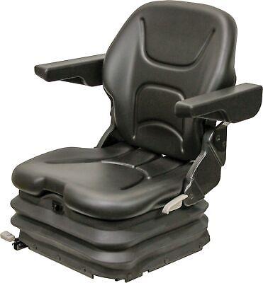 Km 1006 Uni Pro Seat Air Suspension -black Vinyl - Forklift Skid Steer Etc