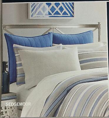 MSRP $64.99 NAUTICA Euro European Pillow SHAM Blue SEDGEMOOR Gray Nautica Blue European Sham