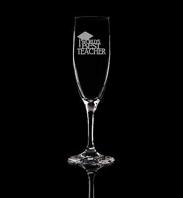 Best Champagne Glasses (World´s Best Teacher, Graduation, Champagne Flute glass Prosecco)