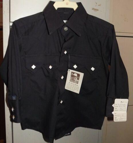 Rockmount Boys Sz 0 / 1 Black Cowboy Western Shirt Snaps