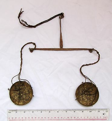 Really Old  Lisu Hill Tribe Copper & Brass Opium Scale HANDMADE
