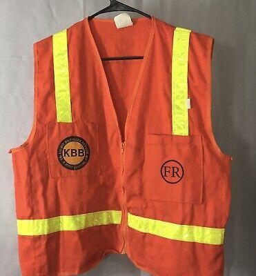 Iron Horse Size M Orange Safety Vest Reflective Material Stripes Flame Retardant